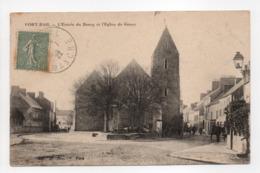 - CPA PORT-BAIL (50) - L'Entrée Du Bourg Et L'Église De Gouey 1922 - - France