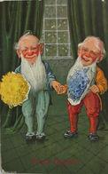 """""""Neujahr,Zwerge"""" 1908, Serie T.S.N. 785  (6. Dess.) ♥   - Neujahr"""
