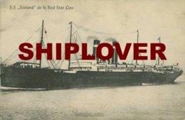 Paquebot Zeeland De La Red Star Line - CPA -  Bateau/ship/schiff - Paquebots