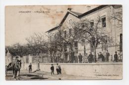 - CPA CHALIGNY (54) - L'Hôtel De Ville (belle Animation) - Photo Nicolle - - Other Municipalities