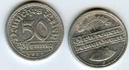 Allemagne Germany 50 Pfennig 1922 G J 301 KM 27 - [ 3] 1918-1933 : Repubblica Di Weimar