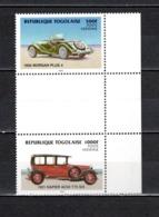 TOGO N° PA 525 + PA 526 SE TENANT  NEUFS SANS CHARNIERE COTE  ? € RARE  VOITURE AUTOMOBILE ANCIENNE VOIR DESCRIPTION - Togo (1960-...)