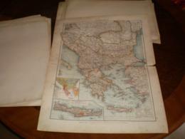 Balkanhalbinsel Volks Und Familien Atlas A Shobel Leipzig 1901 Big Map - Cartes Géographiques