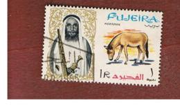 FUJEIRA -  SG 13 -  1964   ANIMALS: ONAGER      - USED ° - Fujeira