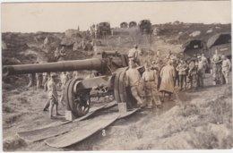 Carte Photo Militaria Militaires Camions Tirant Canon Guerre 14-18 ? - War 1914-18