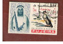 FUJEIRA -  SG 47 -  1965   BIRDS: FALCO BIARMICUS       - USED ° - Fujeira