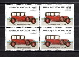 TOGO N° PA 526 EN BLOC DE QUATRE NEUFS SANS CHARNIERE COTE  60.00€  VOITURE  AUTOMOBILE ANCIENNE - Togo (1960-...)