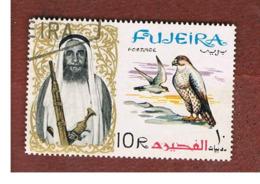 FUJEIRA -  SG 18 -  1964   BIRDS: FALCO BIARMICUS       - USED ° - Fujeira