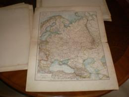 Europaisches Russland  Volks Und Familien Atlas A Shobel Leipzig 1901 Big Map - Cartes Géographiques