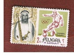 FUJEIRA -  SG 24 -  1964   OLYMPIC GAMES: FOOTBALL      - USED ° - Fujeira