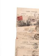 TIMBRE TYPE SEMEUSE LIGNEE....10c ROSE........VOIR DETAIL...LOT DE 100 SUR CPA.....VOIR SCAN......LOT 59 - 1903-60 Semeuse Lignée