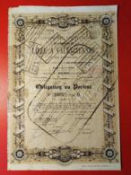 CHEMIN DE FER DE LILLE A VALENCIENNES 1873 - Railway & Tramway