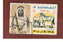 FUJEIRA -  SG 44 -  1965   ANIMALS: ARABIAN HORSES    - USED ° - Fujeira