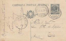 Brienza. 1920. Annullo Frazionario BRIENZA (POTENZA) (51 - 19), Su Cartolina Postale Completa Di Testo - 1900-44 Victor Emmanuel III