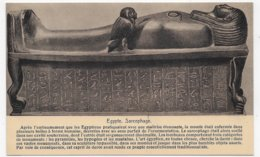 EGYPTE - SARCOPHAGE - FORMAT CPA NON VOYAGEE - Egypte