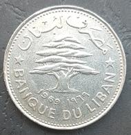 HX - Lebanon 1969 50 Piastres Coin - Libanon