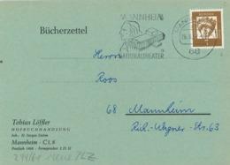 Thomas Löffler - 68 Mannheim Nationaltheater - Heilige Elisabeth 1962 - Bücherzettel - Rs: Zudruck - [7] Federal Republic