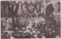 Carte Photo Souvenir De St Avold (57) La Tribune D'Honneur 21 Novembre 1918 Discours Du Maire - Saint-Avold