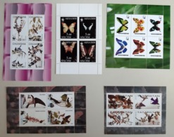 Motief Vlinder + Vogels / Butterflies / Birds - Briefmarken