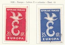 PIA - FRA - 1958 : Europa - (Yv 1173-74) - 1958