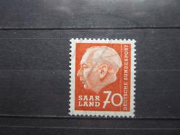 VEND BEAU TIMBRE DE SARRE N° 377 , XX !!! (b) - 1957-59 Fédération