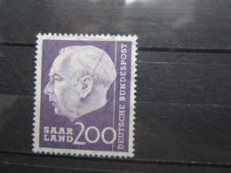 VEND BEAU TIMBRE DE SARRE N° 381 , XX !!! (b) - 1957-59 Fédération