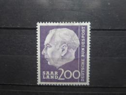 VEND BEAU TIMBRE DE SARRE N° 381 , XX !!! (a) - 1957-59 Fédération