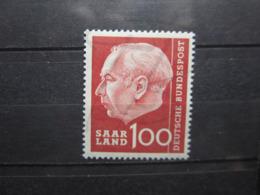 VEND BEAU TIMBRE DE SARRE N° 380 , XX !!! - 1957-59 Fédération