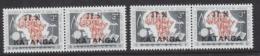 Katanga 1960 Opdruk 2w (paar)  ** Mnh (44784B) - Katanga