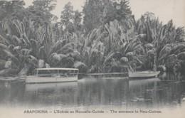 Papouasie Nouvelle-Guinée - Papua New Guinea - Arapokina - Entrée Par Bateaux Barques - Papua New Guinea