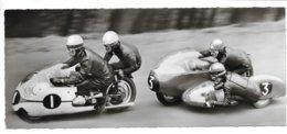 Carte-photo 21 X 9 ...Side-Car...Nurburgring...champion Du Monde Horner N°1 . Robinson N°3 ..... - Motorradsport