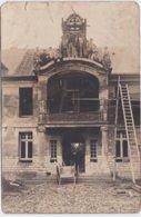 Carte Photo Aunay Sur Odon (14)  Construction De L'Hôpital - France