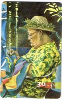Polynesie Francaise Tahiti Telecarte Phonecard Prepaid PF69 Les Mamas Robe Jaune Chapeau Ut TBE - Frans-Polynesië