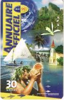 Polynesie Francaise Tahiti Telecarte Phonecard Prepaid PF85 Ou 85A Annuaire 1999 Conque Eglise Ut TBE - Französisch-Polynesien