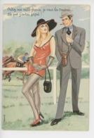 Louis Carriere - Prêtez-moi Mille Francs... Courses Chevaux Pin-up  (cp Vierge N°50384) - Humour