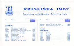 TT ZEUKE 1967 Prislista SEKr - En Suédois - Other