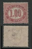 ITALIA Regno 1875 - SERVIZIO N. 5 Usato - Cat. 40 € - Dienstpost