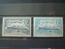 FRANCE 1935 + 1936 NORMANDIE MH* / 2 COLORS - Frankreich