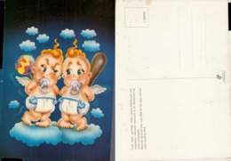 Gémeaux- Voir Texte Au Verso - Illustration= Bébés Sur Nuages - Astrology