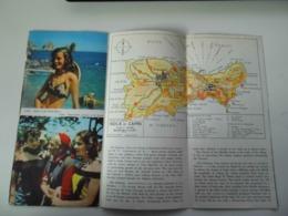 """Pieghevole   Illustrato In Lingua Inglese """"CAPRI"""" E.N.I.T. 1955 - Dépliants Turistici"""