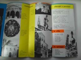 """Pieghevole   Illustrato """"PALERMO - MONREALE"""" Azienda Autonoma Turismo Regione Sicilia Anni '60 - Dépliants Turistici"""