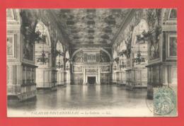 """C.P.A.  (77)  """" FONTAINEBLEAU  """"  Le Palais - La Galerie    Voir 2 Photos - Fontainebleau"""