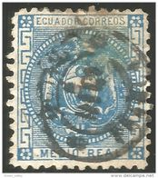 314 Equateur 1872 Medio Real Blue (ECU-56) - Equateur