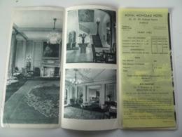 """Pieghevole Pubblicitario """"PARIS ROYAL MONCEAU  HOTEL TARIF 1954"""" - Dépliants Turistici"""