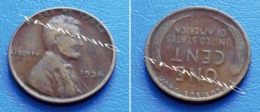 UNITED STATES USA 1 Cent ONE CENT 1936 - LINCOLN - 1909-1958: Lincoln, Wheat Ears Reverse