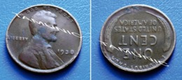 UNITED STATES USA 1 Cent ONE CENT 1938 - LINCOLN - 1909-1958: Lincoln, Wheat Ears Reverse