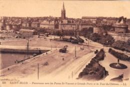 35 - Saint Malo -  Panorama Vers Les Portes St Vincent Et Grande Porte Et La Tour Du Chateau - Saint Malo