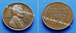 UNITED STATES USA 1 Cent ONE CENT 1942 - LINCOLN - 1909-1958: Lincoln, Wheat Ears Reverse