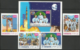 Yemen,Apollo XI 1969.,set+block-imperforated,MNH - Yemen