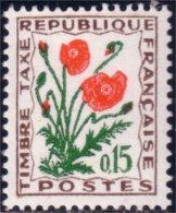 329 France Taxe 1964 Coquelicot Poppy MNH ** Neuf SC (f3-29-317b) - Flora